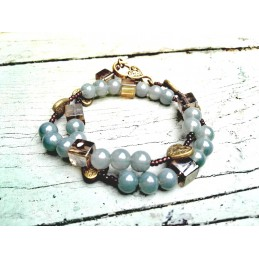 Wrap bracelet 1.0 | blue-green